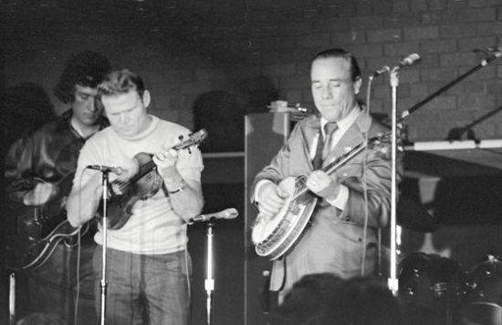 Ear Scruggs and Vasser Clements at UWM in 1972.
