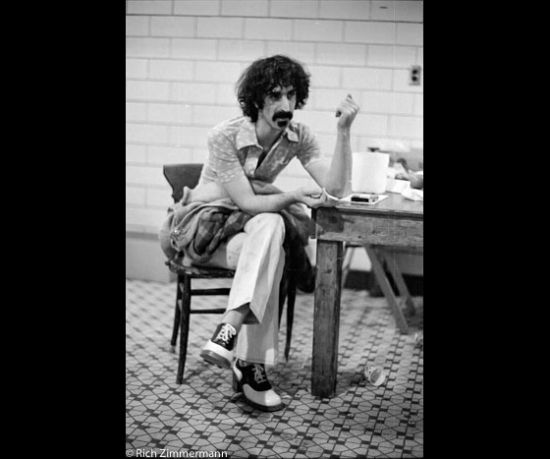 Frank Zappa, having a smoke!