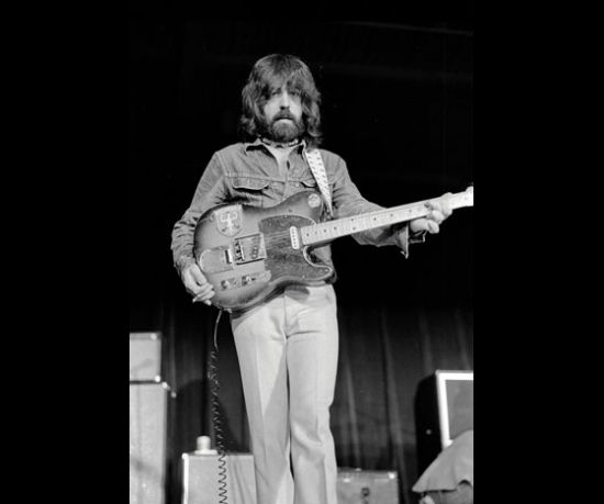 Clarence White and his famous B Bender guitar.