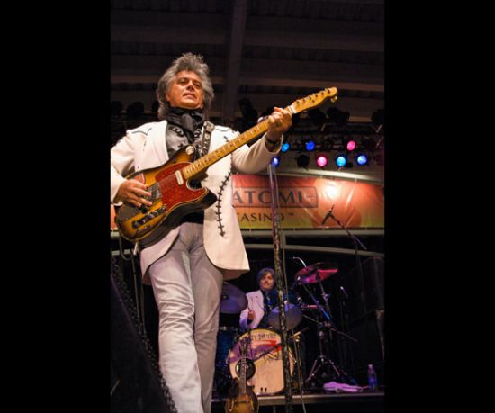 Marty Stuart with the famous B Bender guitar.
